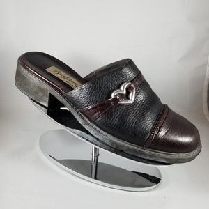 Brighton Kelsey Black and Brown leather Mules